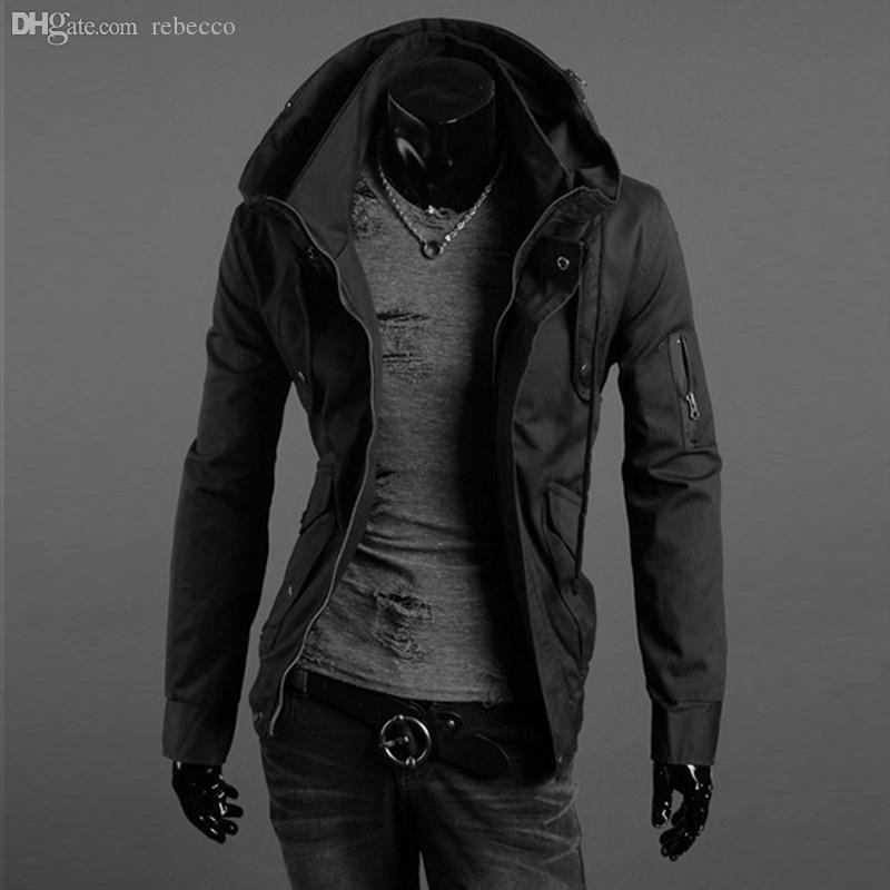 Herbst-2016 heiße Marke Winterjacke Männer Plus Samt warmen Wind Parka plus Größe schwarz mit Kapuze Outdoor Sport Wintermantel Männer