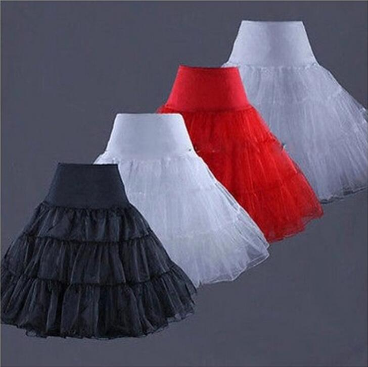 Yeni Gelenler Çay Boyu Kısa Diz Salıncak Etek Balo Silps Crinoline Gelin Petticoat Renderskirt Balerin Etek WS003