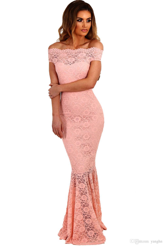 Compre Vestidos De Encaje De Las Mujeres Vestidos De Fiesta Fuera ...