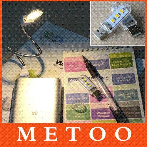 محفظة 5pcs / لوط مصغرة بقيادة ضوء USB 3LEDS SMD 5730 ليلة الخفيفة مصباح للبنك الطاقة جهاز كمبيوتر محمول الهاتف المحمول الأبيض / الدافئة لمبة بيضاء