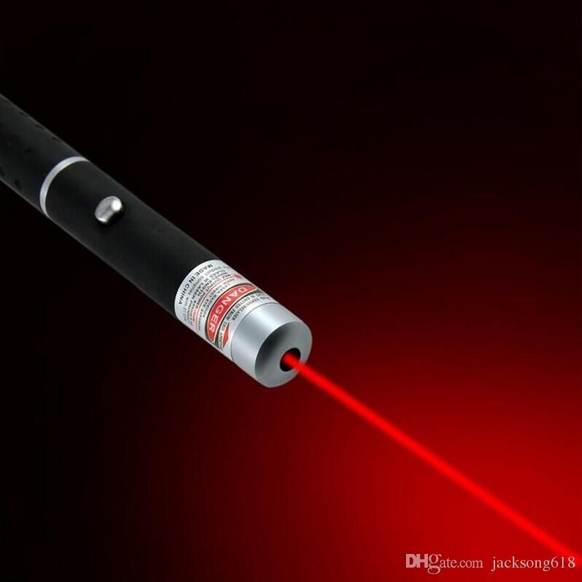 Penna puntatore laser Penna laser a luce rossa 5mW 650nm Beam per SOS Montaggio Caccia notturna Insegnamento regalo di natale Pacchetto Opp Commerci All'ingrosso 50 pz / lotto