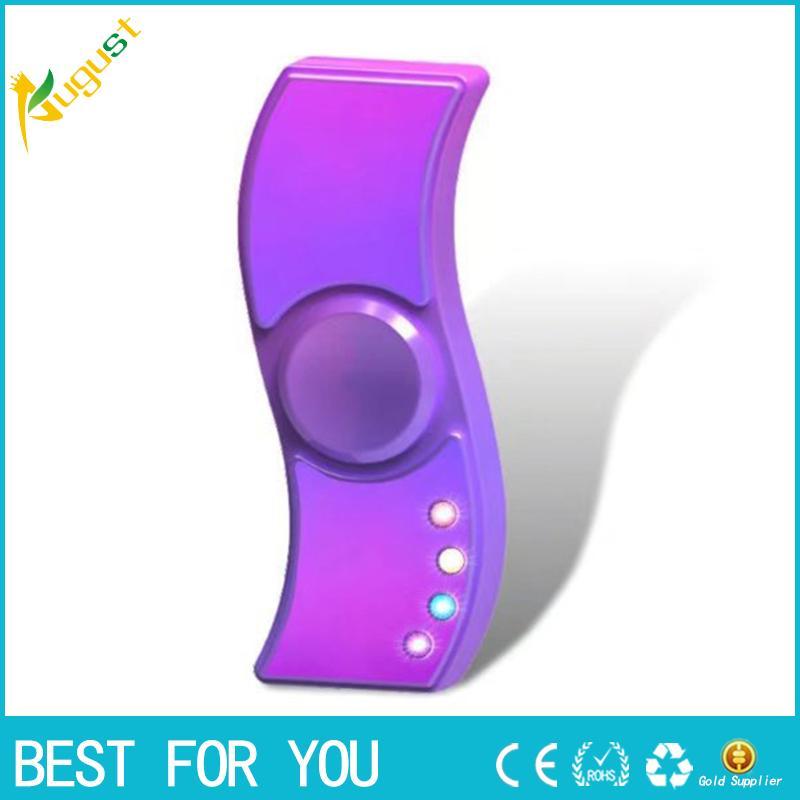 LED Zinklegierung Spinner Zappeln Elektrischer Zigarettenanzünder Wiederaufladbare USB Cool Leuchten Hand Finger Spinner Zappeln Erwachsenes Geschenk
