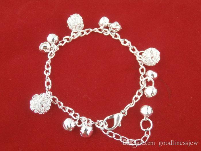 Braccialetti di fascino Blanks per i braccialetti d'argento dei braccialetti dei monili di modo delle donne