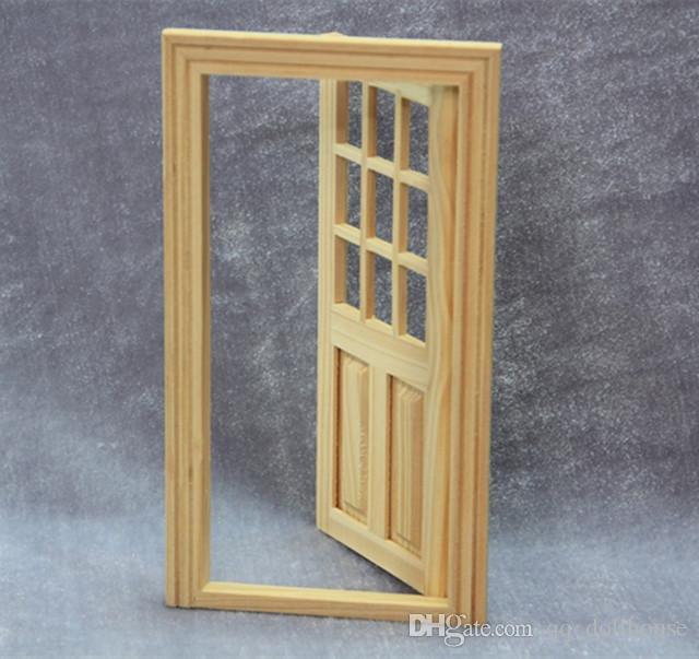 Miniatura Para Casa De Muñecas Interno 5 Panel Madera Puerta