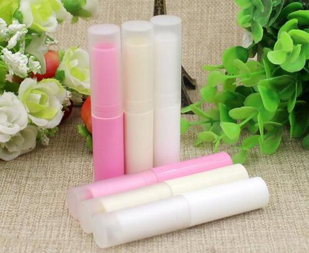 Prezzo di fabbrica 4g traslucido fai da te tubo del rossetto balsamo per le labbra contenitori vuoto contenitori di tubi