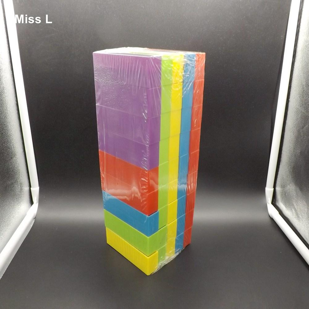 45 قطع ملون كتلة التراص البلاستيك تعثر برج الألعاب التعليمية التعلم المبكر لعب الاطفال الهدايا