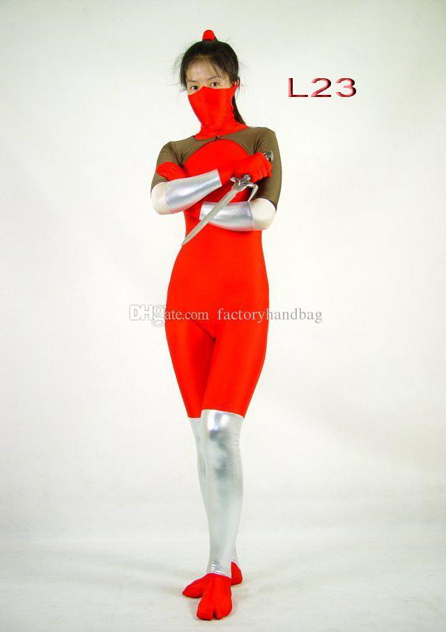 Mulher Traje Lycra Spandex Zentai Terno de Corpo Inteiro Cosplay Halloween Bodysuit