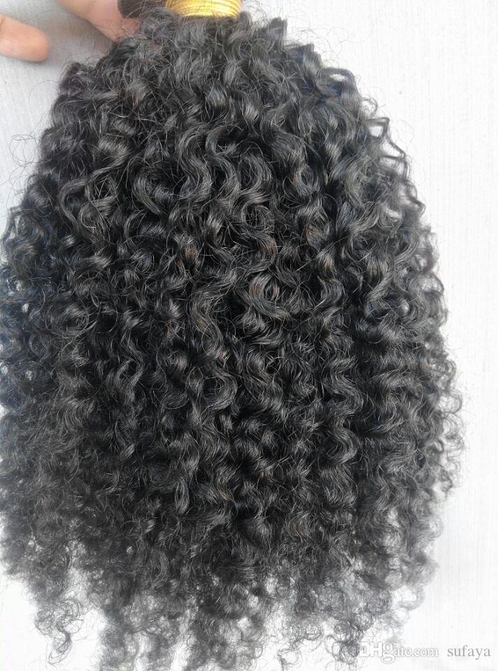 브라질 인간 아프리카 거친 머리카락 퀸 헤어 제품 자연 색상 머리카락 확장 100g 1bundle