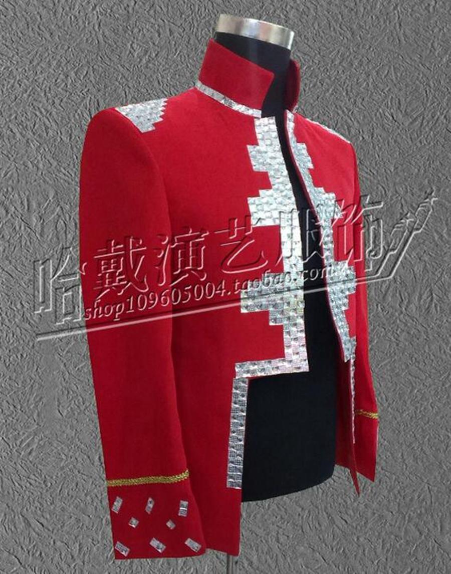 Caballero personalidad yardas grandes trajes discoteca cantante estrella etapa rendimiento ropa lentejuelas chaqueta / S - 4 xl