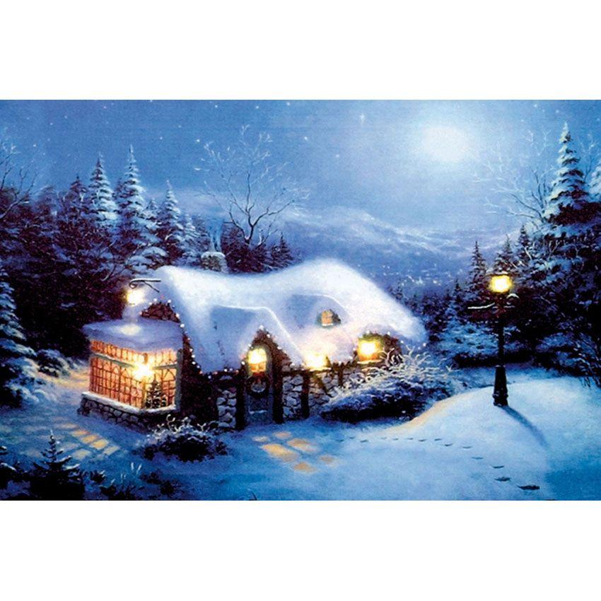 2020 Christmas Winter Diamond Painting Kit 2020 Christmas Winter Cottage Full Drill DIY Mosaic Needlework