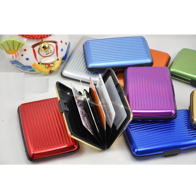 Hot Aluminium Credit Card Wallet Antimagnetic Card Holder Waterproof Aluma Wallet Variable Colour For Free Shipping YC2020