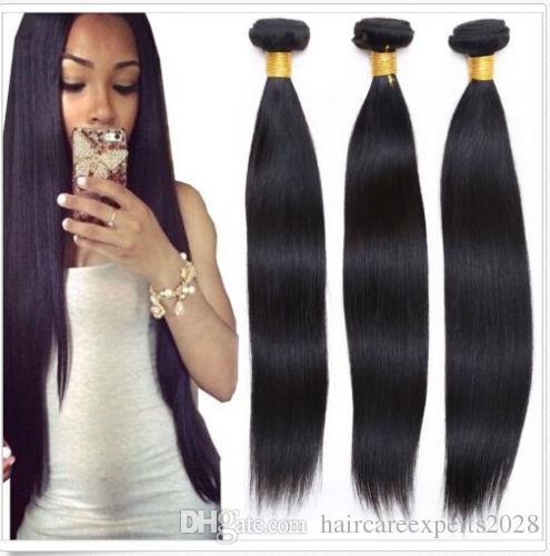 straight hair 65g/pcs 5pcs/lot 6A Peruvian Hair brazilian hair indian hair Malaysian Virgin Hair , Mongolian Human