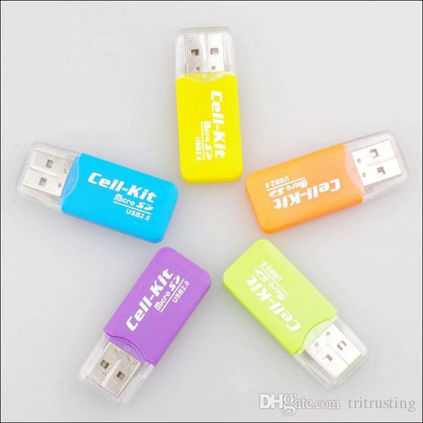 High Speed USB 2.0 Micro SD card T-Flash TF M2 Memory Card Reader adapter 2gb 4gb 8gb 16gb 32gb 64gb TF Card MQ500