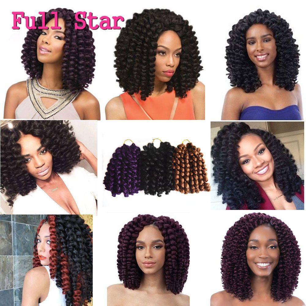 8 10 Inch Wand Curl Crochet Hair Extensions Ombre Havana Mambo Twist