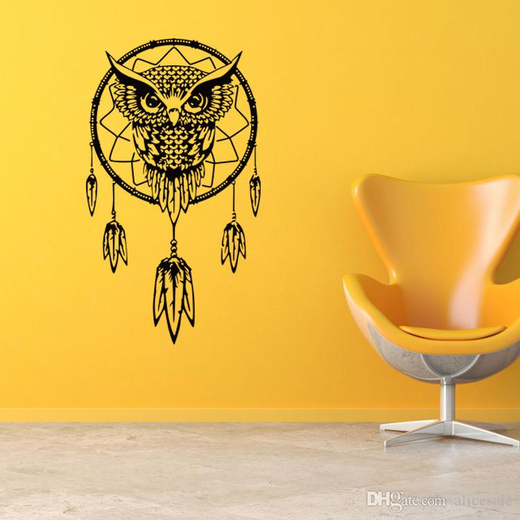 Dream Catcher Indian Religious Totem Owl Feather 3d Wall Stickers ...