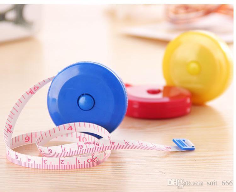 Soft foot tape measure retractable plastic candy-colored cartoon metric measurements meter stick ruler measuring tape black eye