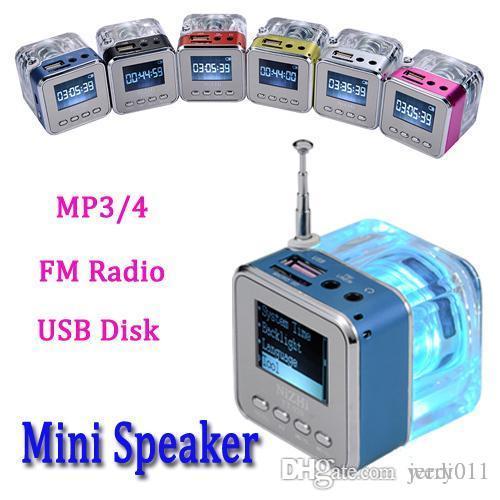 Новое поступление Мини Цифровой Портативный динамик, Музыка MP3 / 4 Плеер Micro SD / TF, USB Дисковый Динамик / Динамик, FM-Радио, Бесплатная доставка