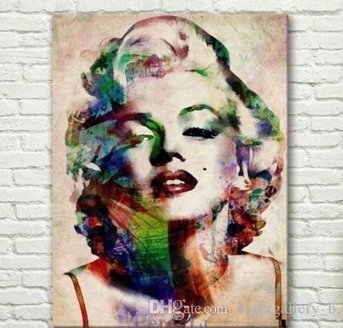 2020 Framed Marilyn Monroe,Hand Painted Abstract Portrait Art Oil