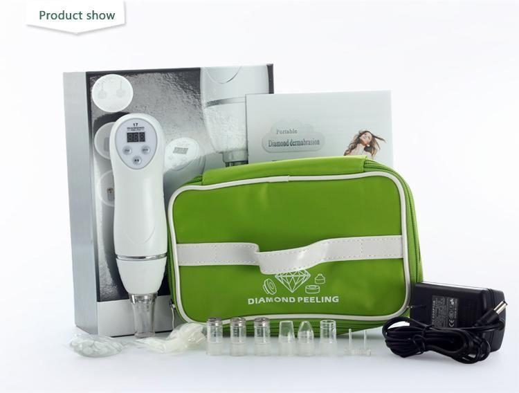 2016 microdermabrasión portátil de alta presión Mini Diamond Machine Peeling para eliminación de la piel muerta y limpieza de poros
