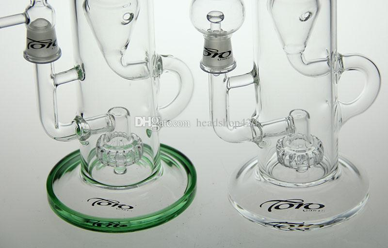 TORO- New Bong glass water pipe glass bong recycler bong water pipe two function with oil rig herb toro bowl