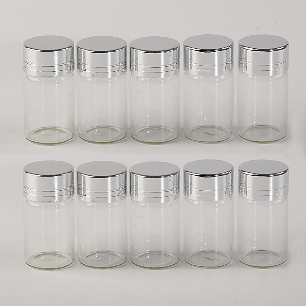 7ml Glass Bottles Screw Cap Silver Aluminium Lid Empty Glass Jars Vials Bottles Sealing up Container1