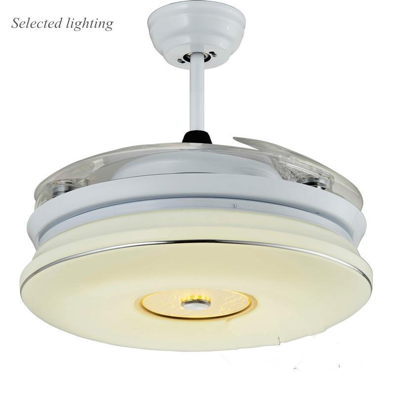 42 inch Modern Ceiling Fan Led Lighting Ultra Quiet Invisible Fans Ventilador Teto Led Fan Light Fixture 110V 220V