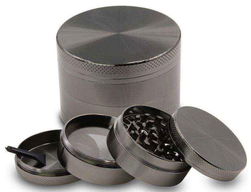 DHL livre 55mm 4 peças liga de zinco moedor de ervas para fumar tabaco moedores de fumar à base de plantas atacado