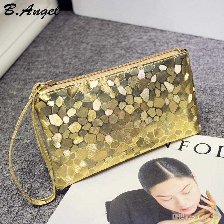 6 Color High quality Bling Stone Pattern Phone Cash Purse Wallet Elegant clutch purse Cell Phone Pocket Credit Card Coin Purse Pocket