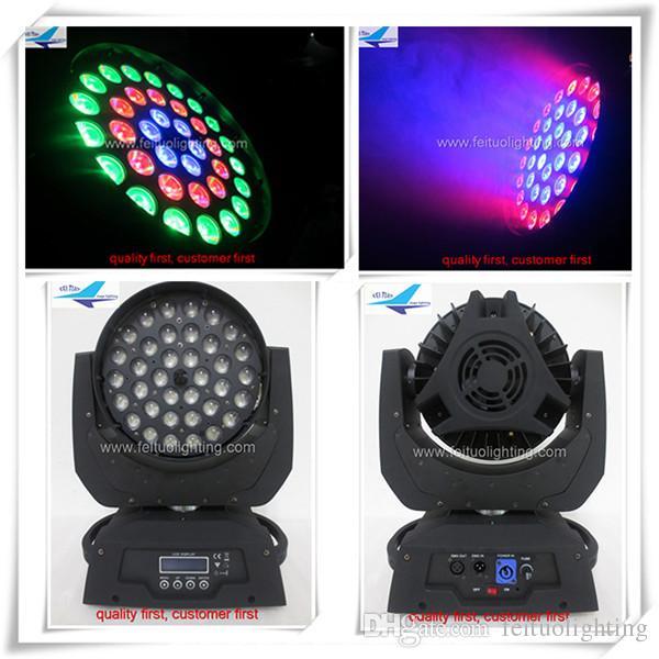 6 xlot yıkama zoom 36x18 w led hareketli kafa üç daireler toptan fiyat 6in1 rgbwauv led disko ışık
