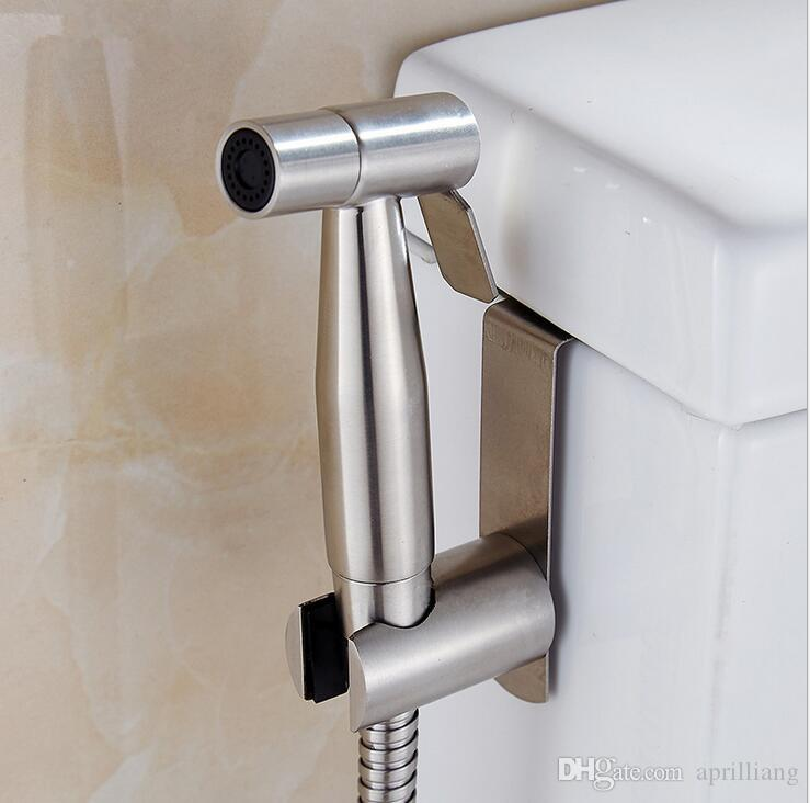 2020 High Quality Bathroom Hand Held Toilet Bidet Sprayer Douche Shattaf Shower Spray Stainless Steel Hose Holder Set Brushed Nickel Finish From Aprilliang 35 06 Dhgate Com