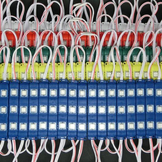Nouveau 5050 3LEDs Led Modules Lumières Avec Couvre-objectif Étanche Injection ABS Led Lumières Modules 12 V Meilleur Pour Le Panneau d'affichage Rétro-Éclairage