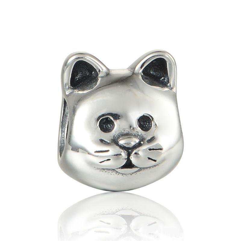 동물 고양이 매력 애완 동물 S925 스털링 실버 DIY 스타일 팔찌 791706에 적합