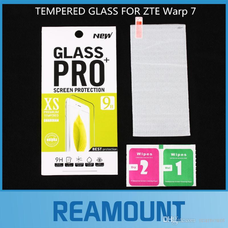 200 pz all'ingrosso di Alta Qualità 9 H 0.4mm Sottile LCD Clear Front Protector Pellicola Protettiva Per ZTE warp 7 N9519 Pellicola Protettiva DHL libero