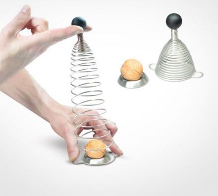 nuova famiglia di vendita più calda Molla in acciaio inox, artefatto di nocciole, clip creativa di nocciole domestiche sicure