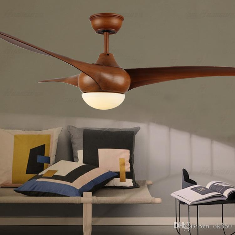 2019 52 Inch LED Brown DC 30w Village Ceiling Fans With Lights Minimalist  Dining Room Living Room Ceiling Fan With Remote Control From Ok360, $344.58  ...