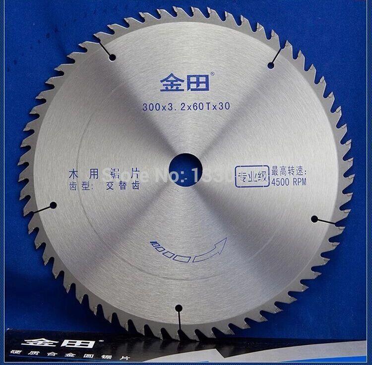 """1 stücke durchmesser 12 """"oder 300 * 60 T langlebig TCT holzbearbeitung sägeblatt schneiden massivholz bar stange"""