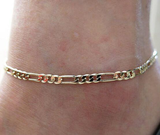 Европейская и американская торговля мода ножной браслет для женщин простой Дикий раздел высококачественной металлической цепи называется голая леди ножной браслет ювелирная цепь