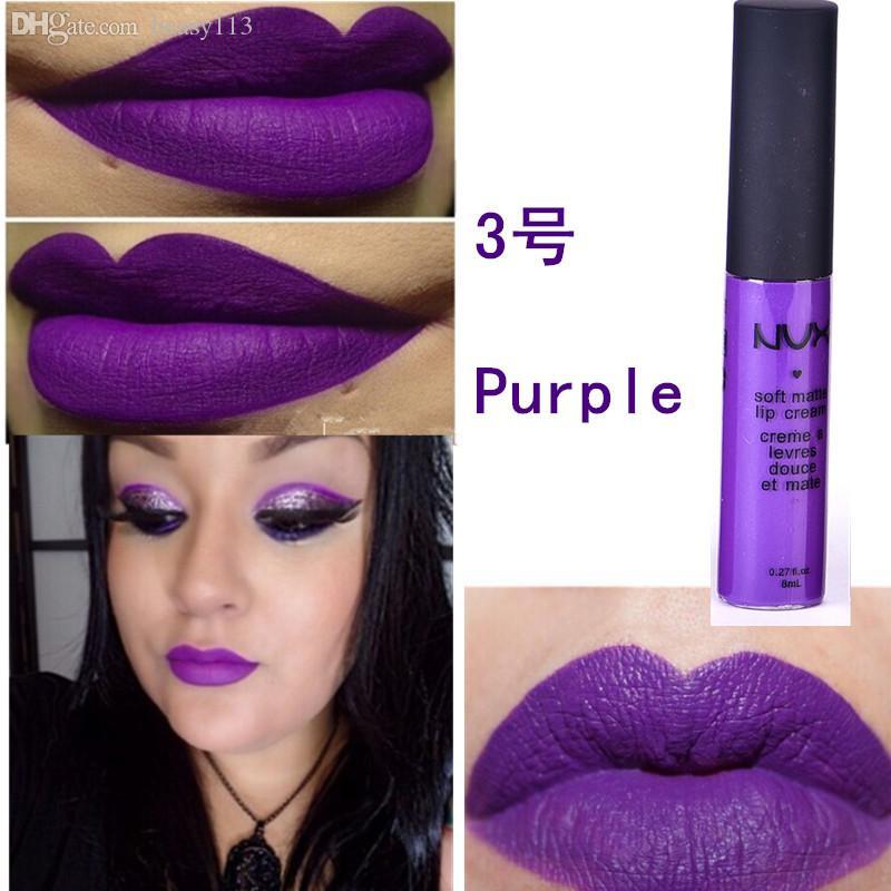 Wholesale-Matte Nonstick cup liquid matte lipstick lipstick lip gloss lipstick nude color purple black waterproof lasting lipstick Lips