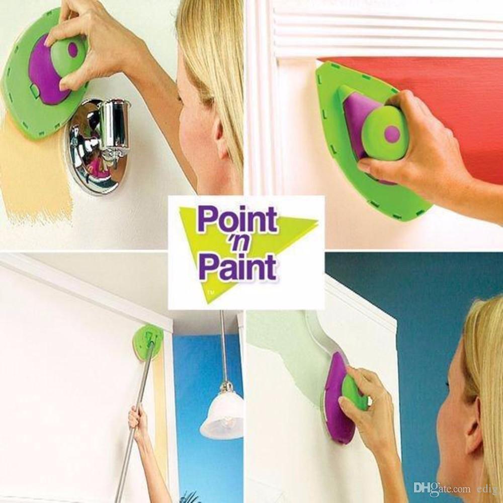 Point N Paint مجموعة دهان وطلاء للديكور مزين بفرشاة لطلاء الحائط أداة منزلية للمحترفين