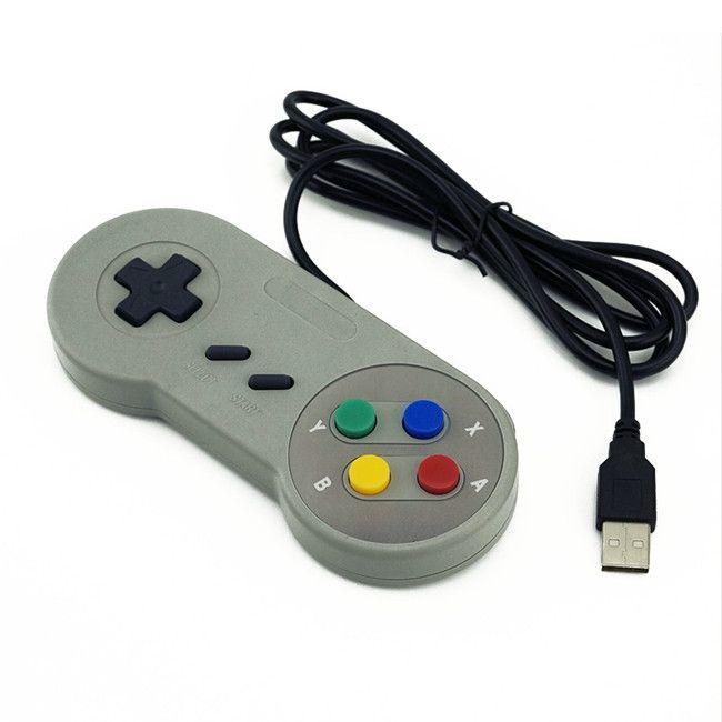 متحكم لعبة السوبر SNES USB كلاسيكي Gamepad لPC MAC Games For Win98 / ME/2000/2003/XP / Vista / Windows7 / 8 / Mac os