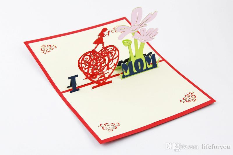 Cartolina d'auguri delle cartoline di ringraziamento della cartolina d'auguri di ringraziamento 3D la mamma per le carte di bessing delle cartoline d'auguri ringrazia la mamma