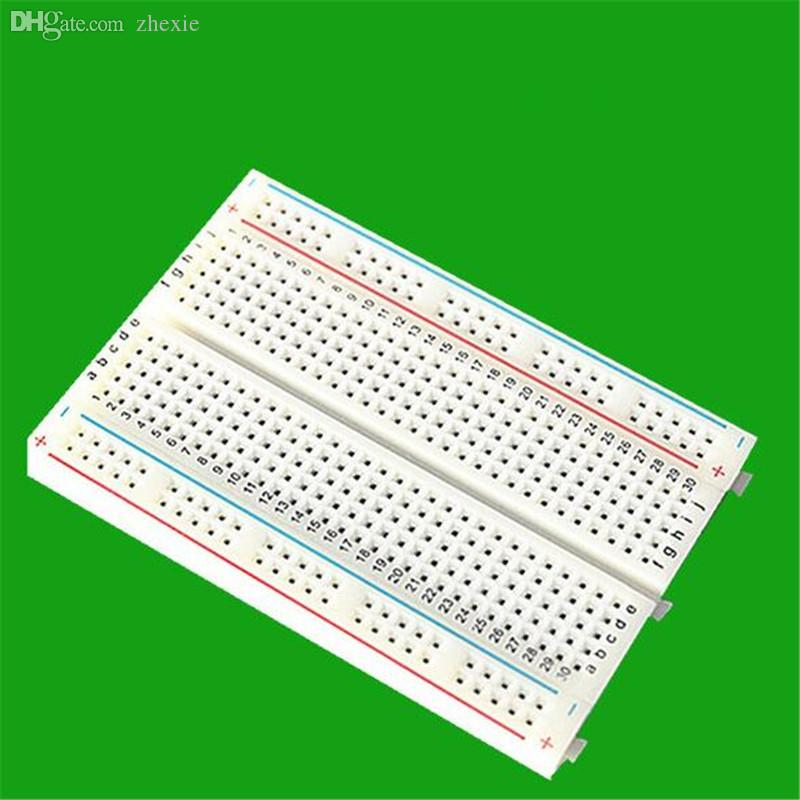 Wholesale-2016 Factory Best prices! 400 Tie Point Interlocking Solderless Breadboard for ATMEGA PIC UNO Free Shipping Dropshipping