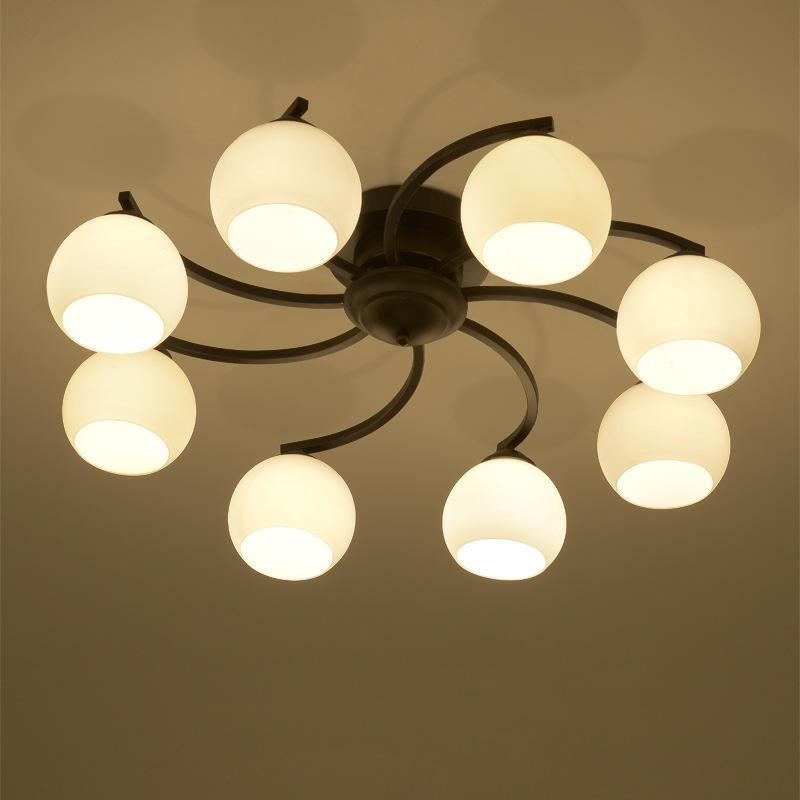 Modern glass pendant lamp E27 led source modern European America style led pendant light for living room dinning room bedroom decoration