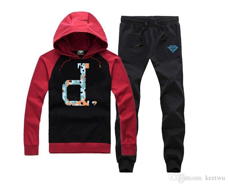 S-5xl Diamant Supply Hoodies + pants Männer und Frauen Paar Baumwolle Runde Oansatz Diamant Hip Hop Hoodie Mantel