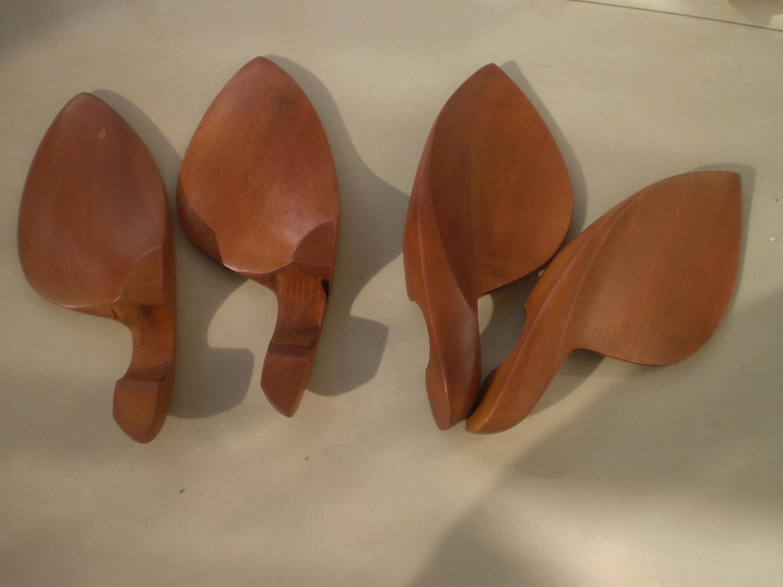 4 Stück Violine Jujube Kinnhalter 4/4 ohne Klemme