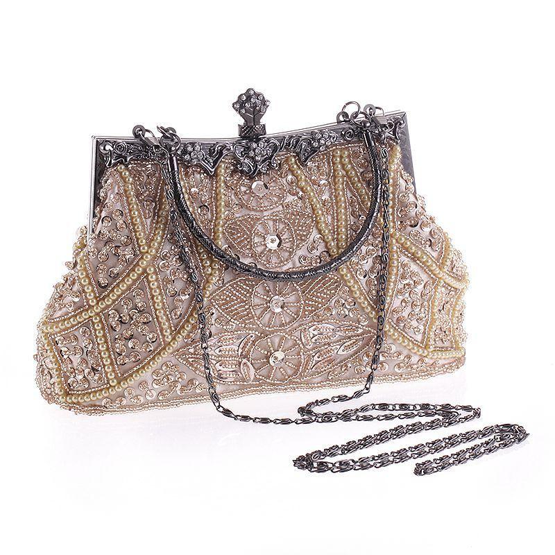 Borse da donna pochette da sera borse squisite per le signore vintage in rilievo ricamato da sposa festa nuziale borsa con cinturino