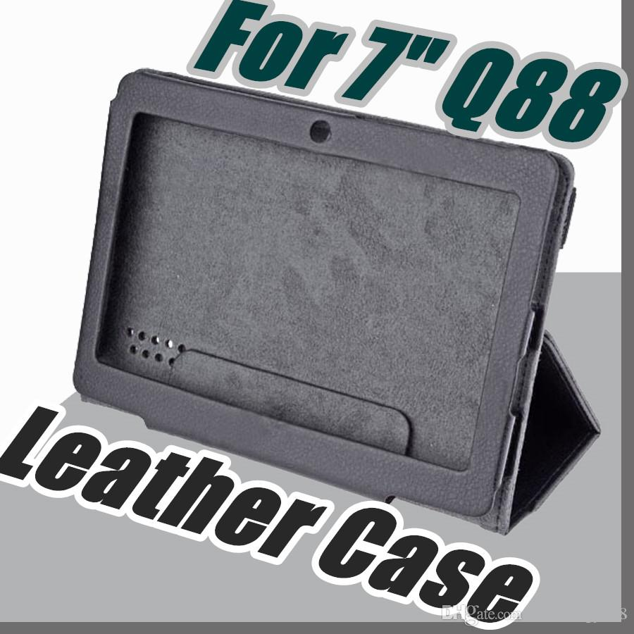 "168 colorful 7"" flip leather case for Haipad Q88 Allwinner A13 A23 A33 Q8 tablet pc protect skin free shipping"