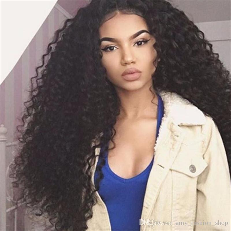 """Full Lace Human Hair Wigs For Black Women Brazilian Hair Wig Kinky Curly Full Lace Wigs 10-26"""" Front Lace Wigs 150%density"""
