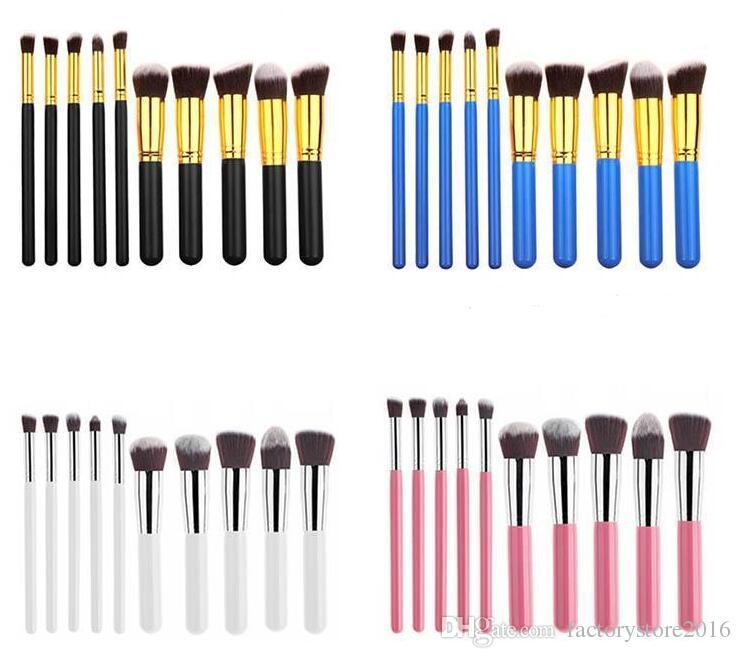 10Pcs Makeup Brushes Set مكياج بودرة فرش ماكويلاج بيوتي أدوات التجميل كيت جفن الأساس أحمر الخدود فرش