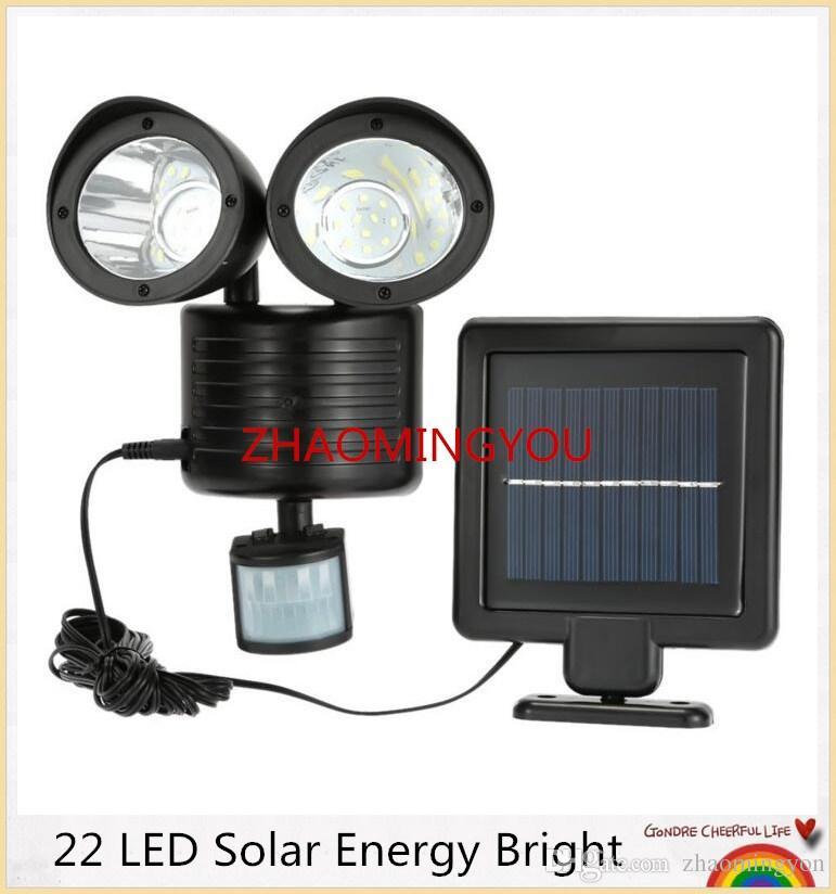 YON 1PCS 22 LED Solar Energy Bright PIR Human Body Light Sensor Induced Home Security Rotatable Detector Lamp Outdoor Lighting